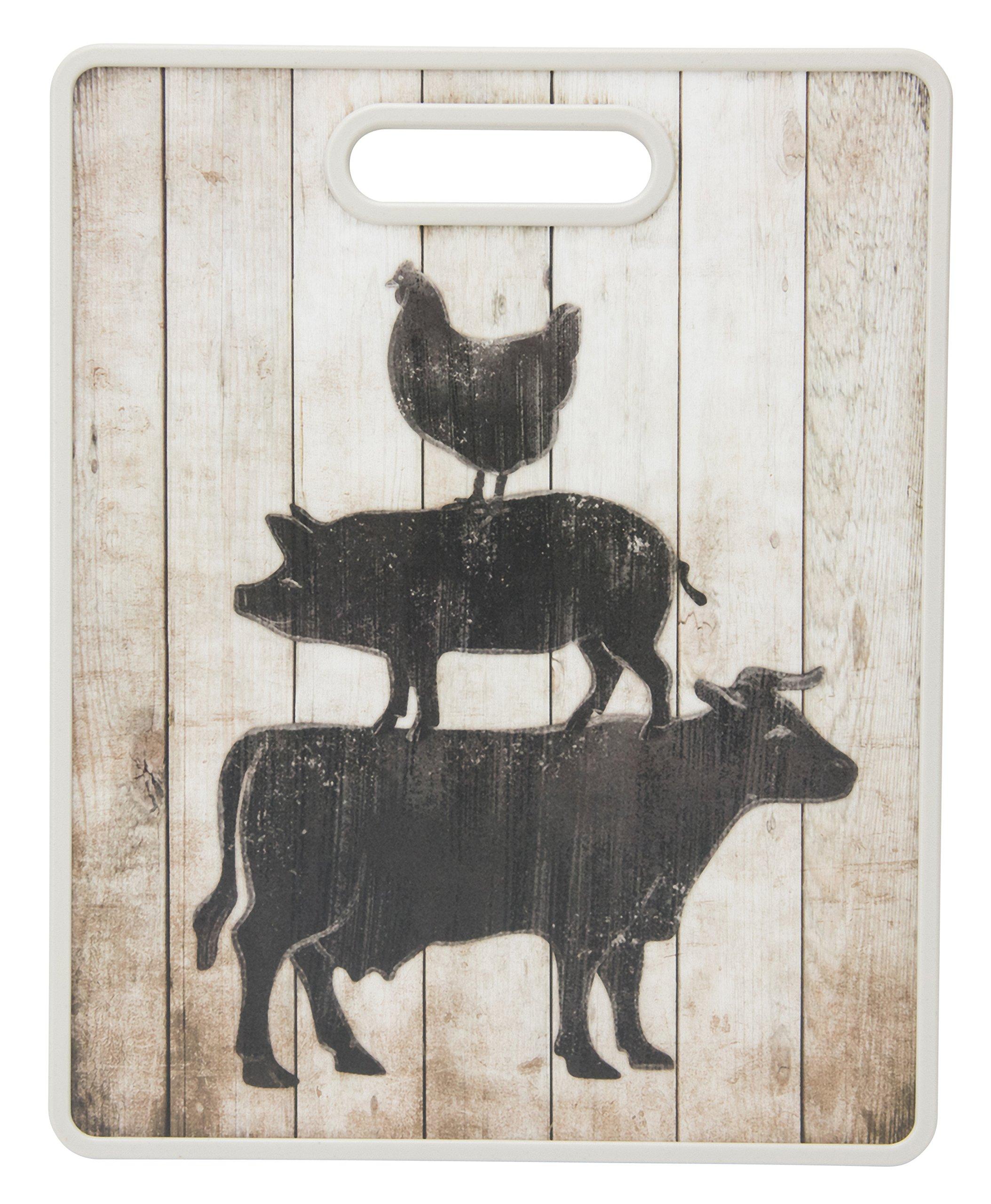 Boston Warehouse Cutting Board, Farm Animal Stack
