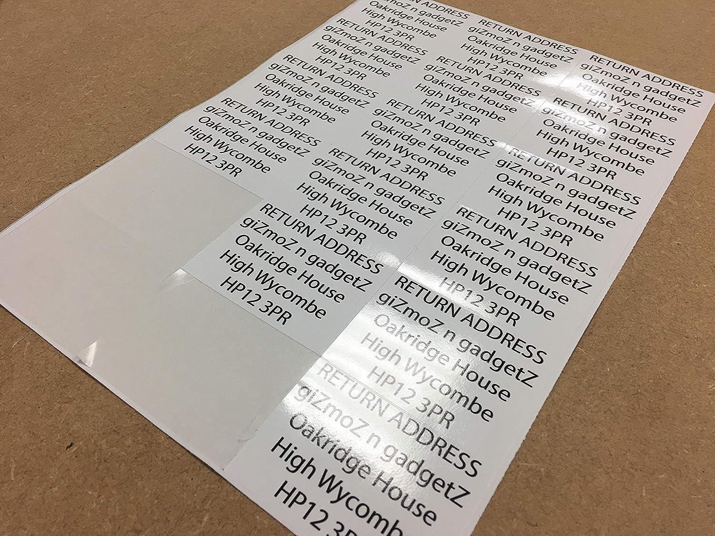 8 Pack 102 x 73.5mm per Sticker Customised Return Address Labels Self Adhesive Custom Printed Small Stickers