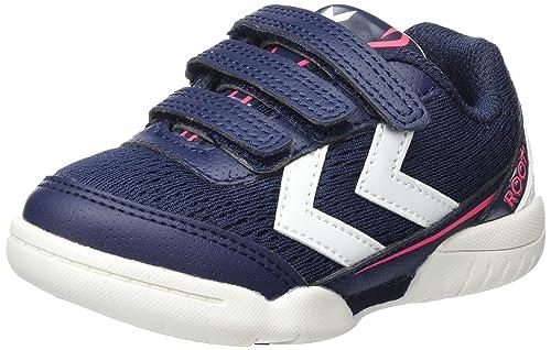 14f091fd Hummel Unisex Kids' Root JR Velcro III Fitness Shoes, Blue (Peacoat 7666)