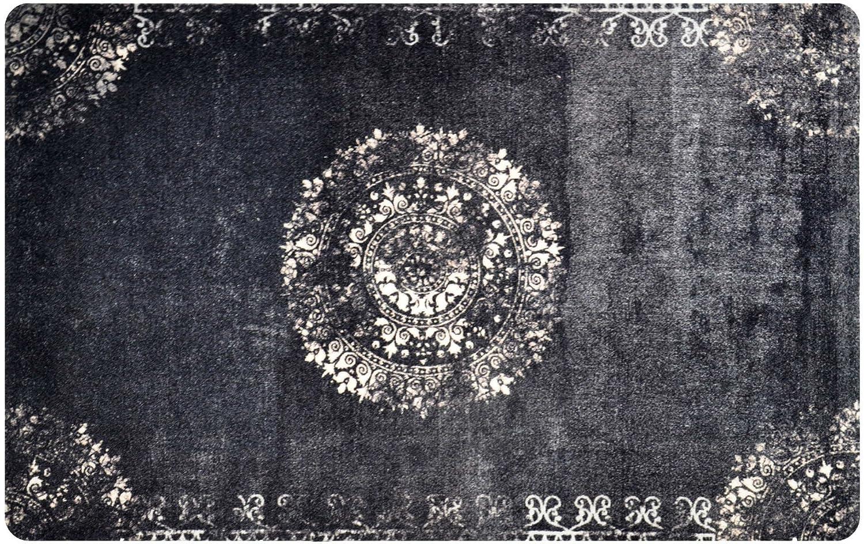 Deco-mat Orientteppich – Fussmatte Orient  – Fussmatte Innen Rutschfest und waschbar – Schmutzfangmatte Fussabtreter  75x120 cm