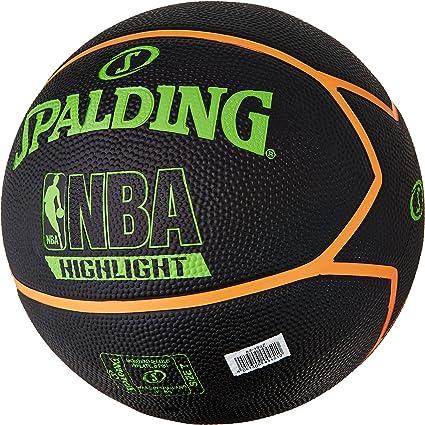 Spalding NBA Highlight Outdoor Balón de Baloncesto, Unisex Adulto ...