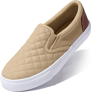 Womens Canvas Flats Sneakers Ladies Slip On Soft Comfort Casual Loafers Shoes US