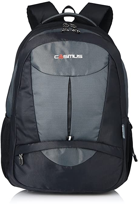 d37830c936 Cosmus Eden DX Black - Grey Polyester Waterproof Large Laptop Backpack   Amazon.in  Bags