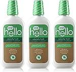 Hello Oral Care Naturally Fresh Antiseptic Fluoride Free Mouthwash, SLS Free