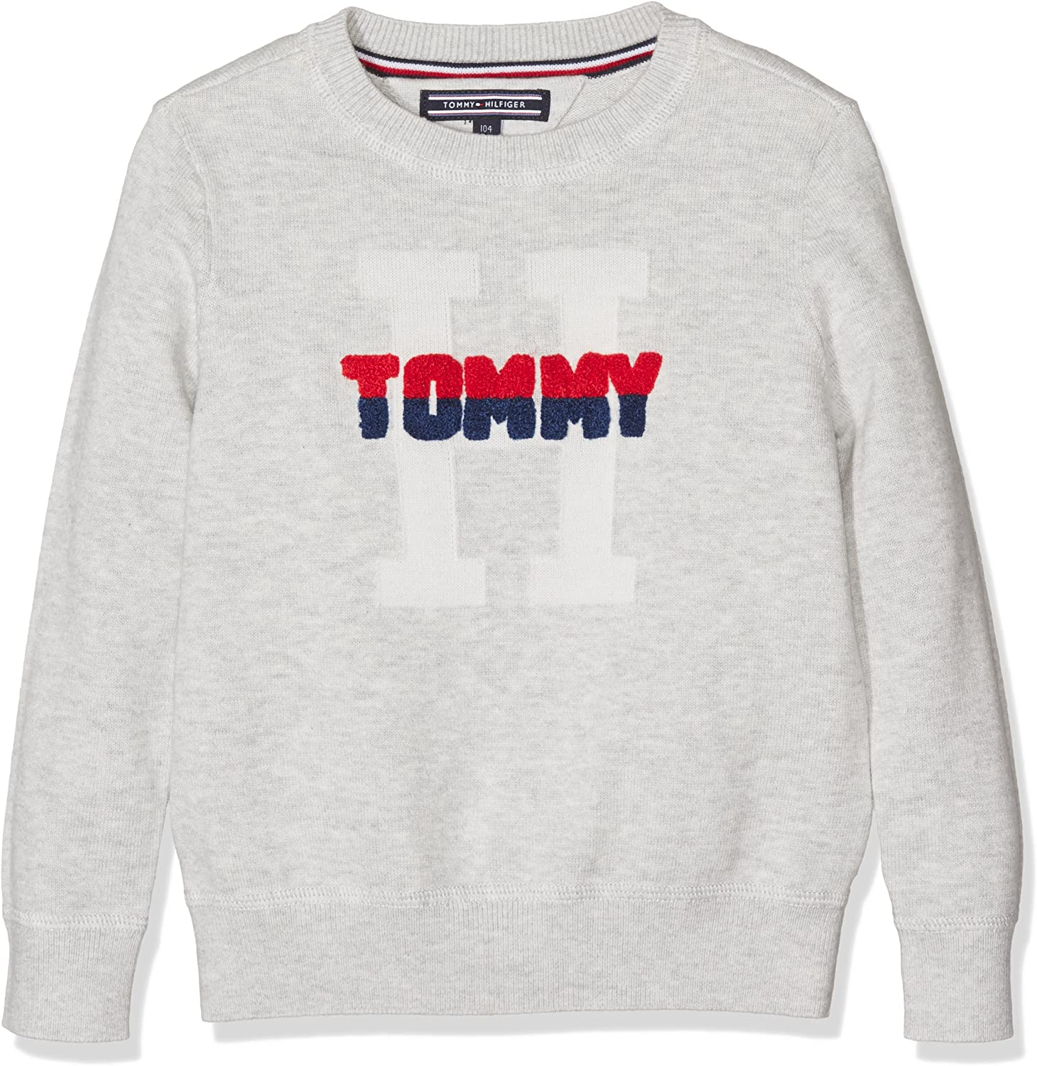 Tommy Hilfiger Boys AME Logo Cn Sweater L//S Jumper