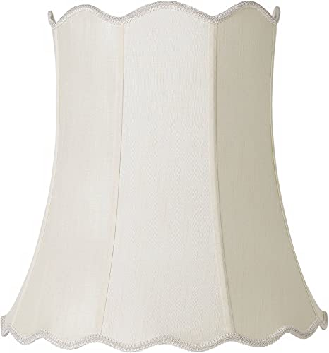 Imperial Creme Scallop Bell Lamp Shade 14x20x20 Spider – Imperial Shade