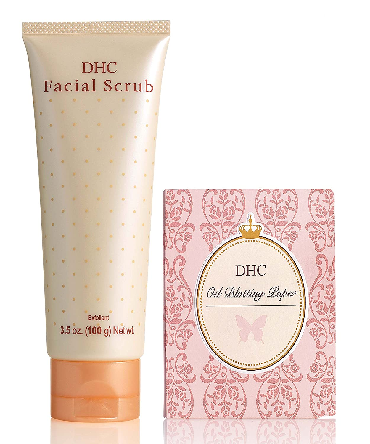 DHC Facial Scrub and Blotting Paper