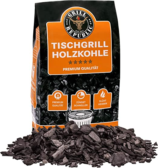 LotusGrill 1 kg Buchenholzkohle Kohle für den raucharmen Holzkohlegrill Grill