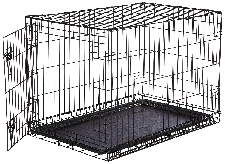 Tür metall  AmazonBasics Hundekäfig mit 1 Tür, Metall, zusammenklappbar, Gr. M ...