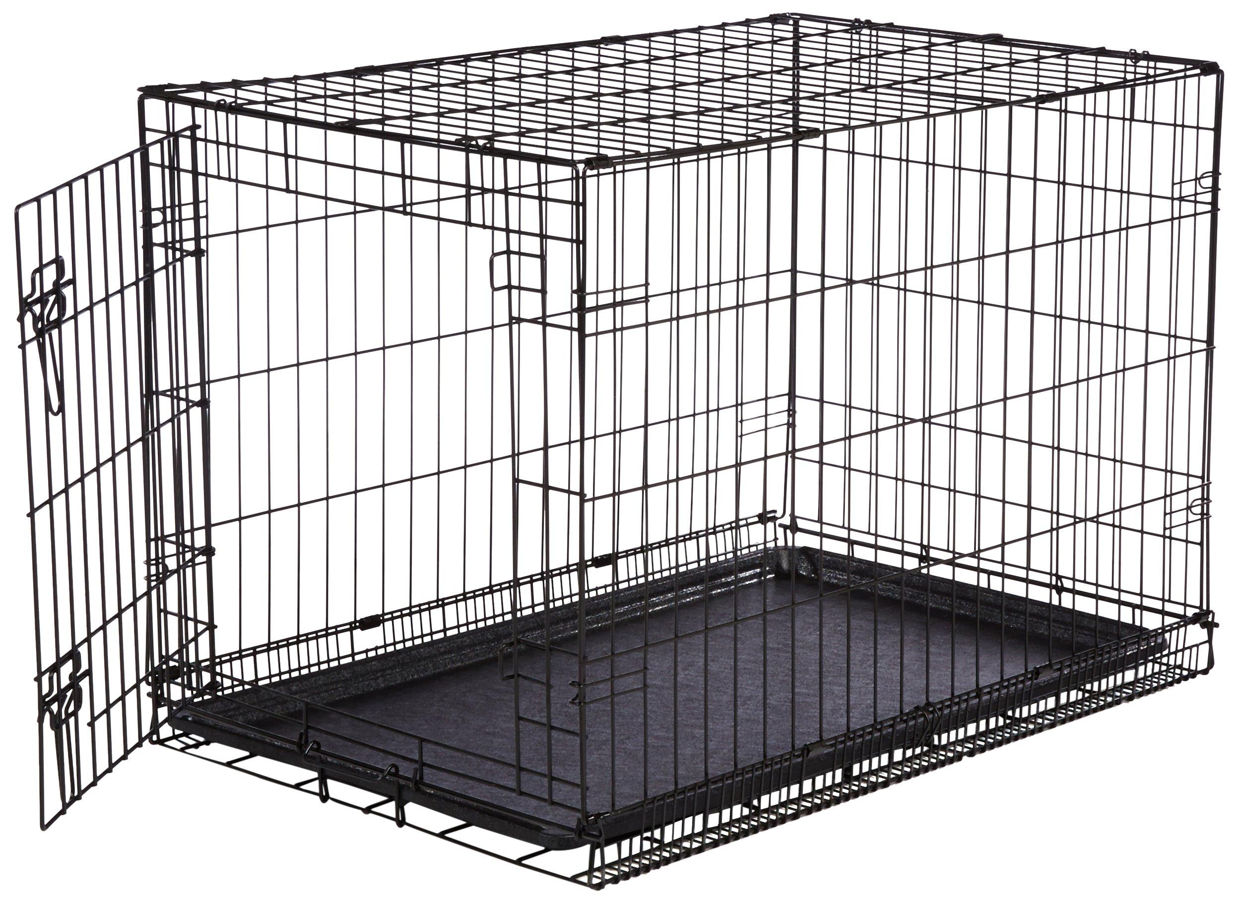 AmazonBasics Folding Metal Dog Crate Single-Door 36-inch
