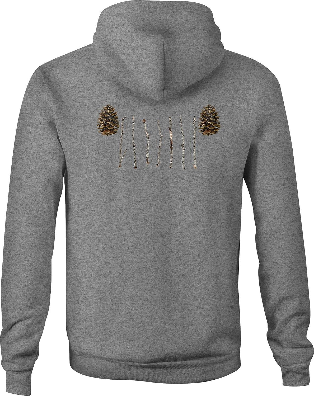 Fire Fighter Zip Up Hoodie Michigan Lakes Hooded Sweatshirt for Men