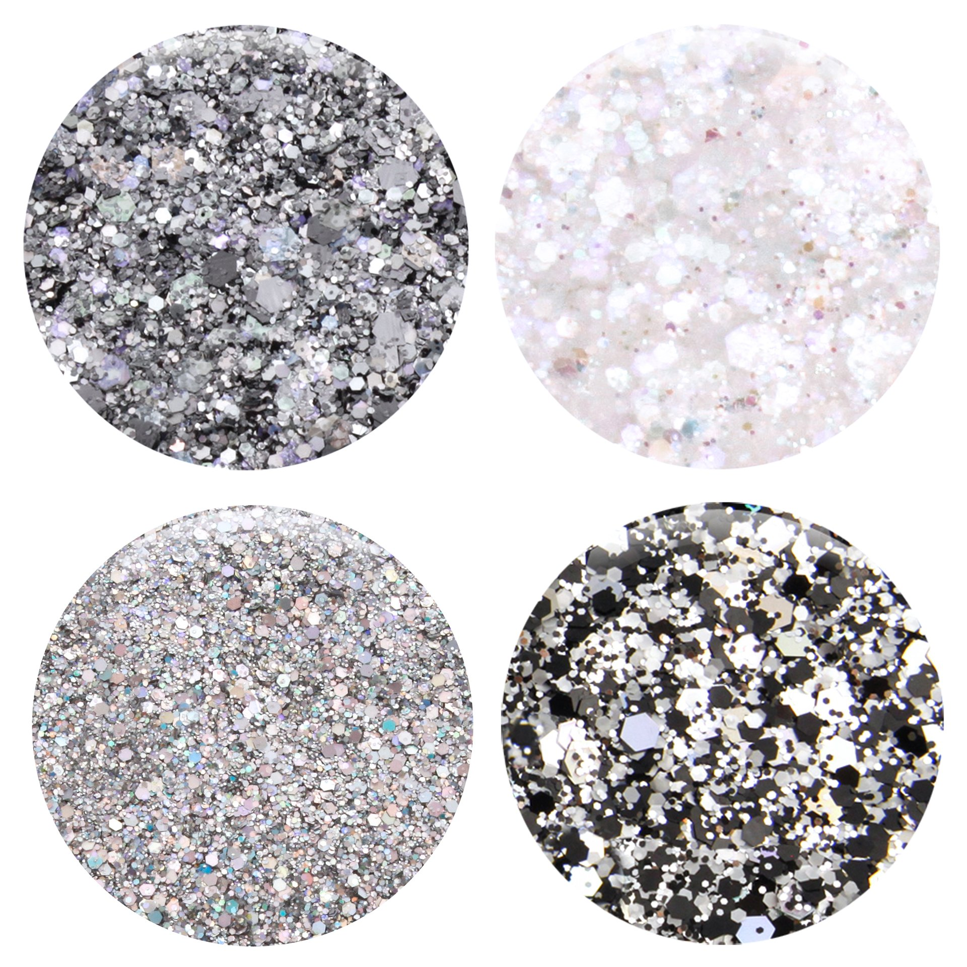 Mixed Glitter 20 Piece Kit - Includes Solvent Resistant Dust, Powder, Hexagon, Holographic, Matte Glitters - Great for Nail Art Polish, Gels, Art and Crafts, Paints & Acrylics Supplies - 1/4 OZ Jars by Glitties (Image #6)
