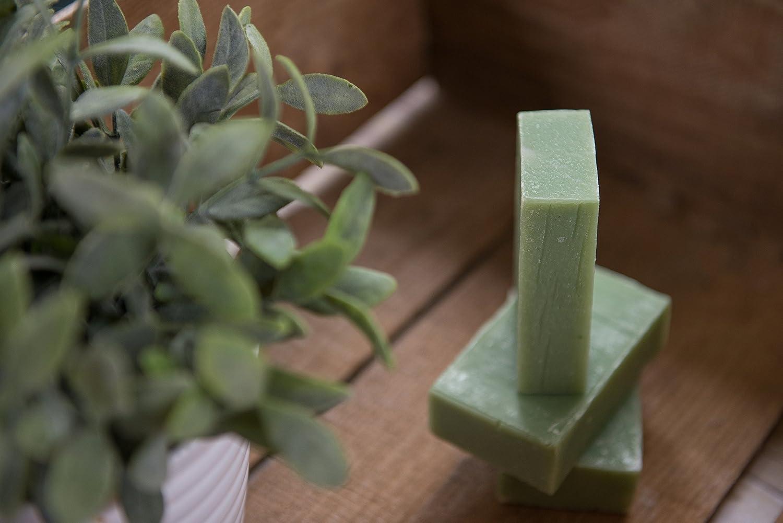 Pastilla de jabón de eucalipto y hierbabuena (4Oz)- Menta fresca y eucalipto - Orgánico y artesanal para pieles sensibles.