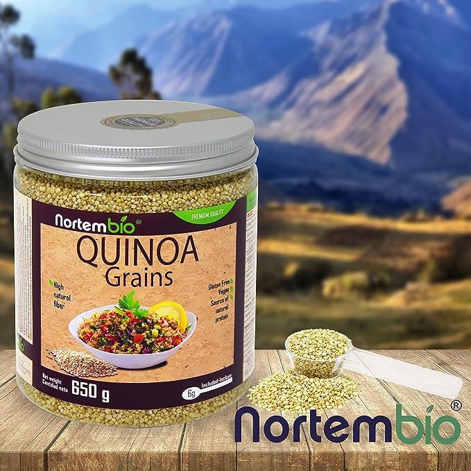 Semillas de Quinoa NortemBio 650 g, Calidad Premium. 100% natural. Excelente Fuente de Proteínas y Vitaminas.: Amazon.es: Salud y cuidado personal