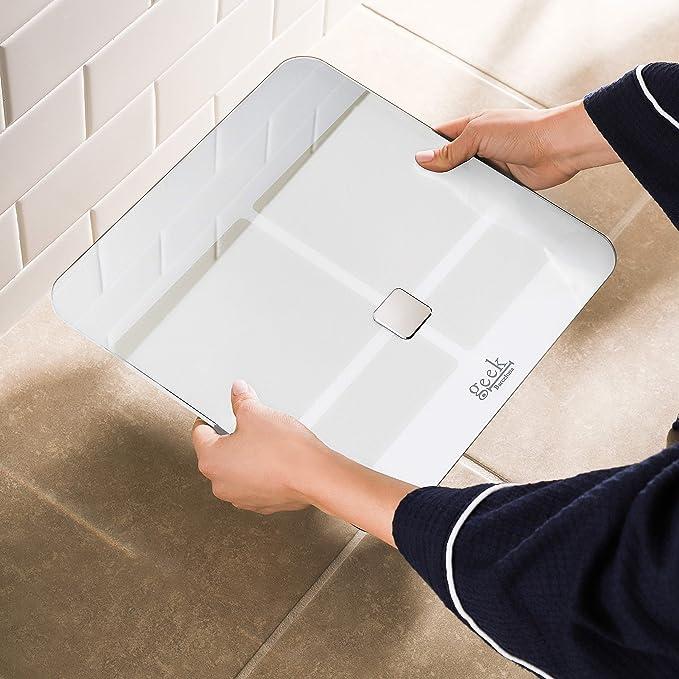 Báscula inteligente digital bluetooth de alta calidad para análisis corporal con Medición de Grasa Corporal y Visceral, Hidratación, Masa Coporal, ...