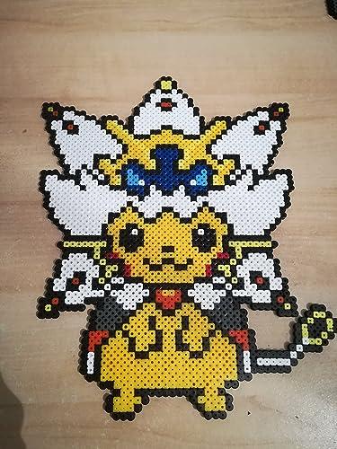 Pixel Art Perler Beads Pokemon Pikachu Solgaleo Amazon Co