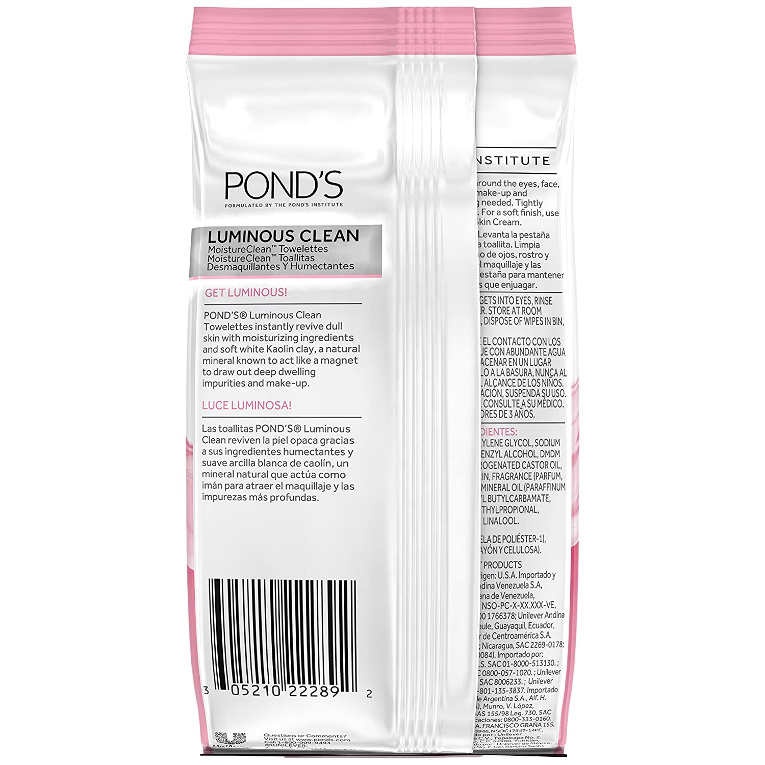 Amazon.com: Ponds Luminous Clean Moisture Clean Towelettes With Cold Cream Technology 28 Each (Pack of 2): Beauty