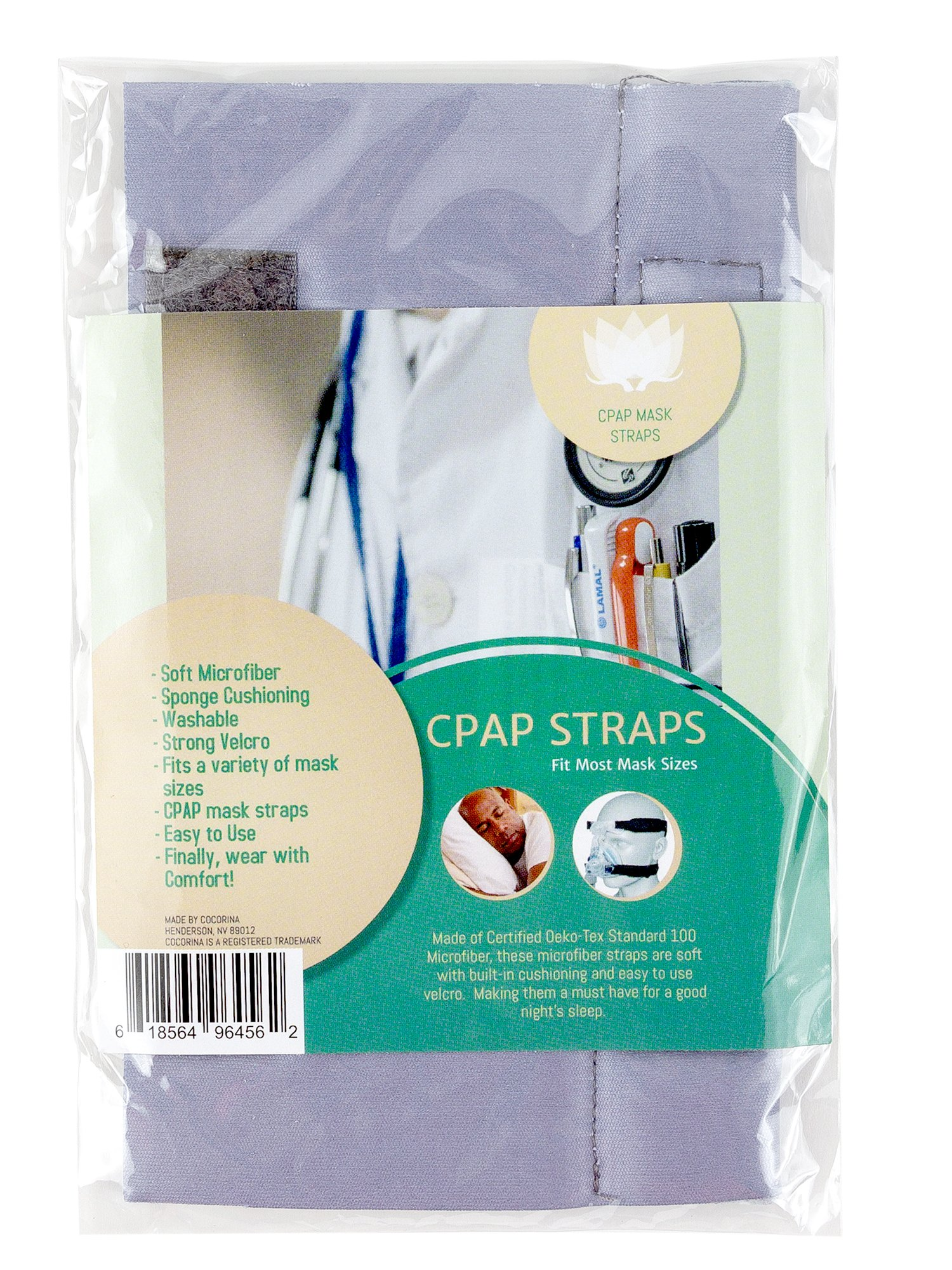 Microfiber CPAP Padded Strap Covers | Top Quality CPAP Strap Covers Made w/Silky Soft Microfiber & Sponge Cushioning | Headgear Face/Cheek Pillows, Say Goodbye to Morning Lines, Marks & Discomfort
