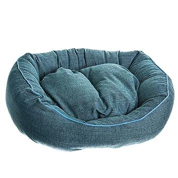 Cama para Gatos y Perros Tipo Donut Ovalado (50x60cm, Turquesa): Amazon.es: Hogar