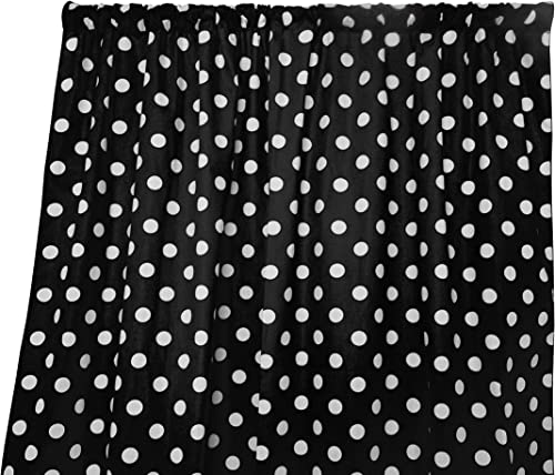Deal of the week: lovemyfabric Cotton Polka Dot Print Curtain Panel 58″ Wide Home Decor/Window Treatment/Photography Backdrop/Photo-Booth Backdrop White on Black 120″ Tall
