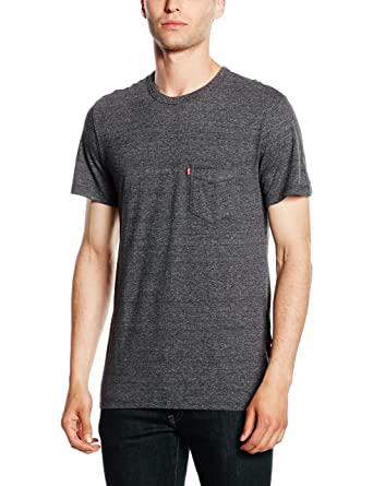 49e917d9 Levi's Men's SS SUNSET POCKET TEE T-Shirt, Grey (C34261 EBONY TRI ...