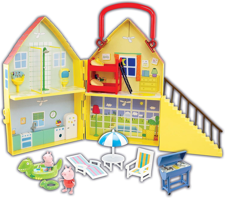 Peppa Pig - Pph 09 - En Vacances La Villa Casa con 2 Caracteres: Amazon.es: Juguetes y juegos