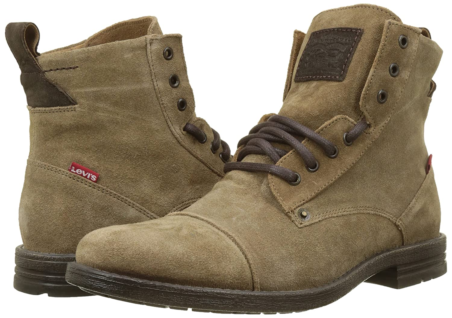 Amazon.com | Levis Emerson Suede Boots 11 D(M) US Medium Brown | Ankle & Bootie