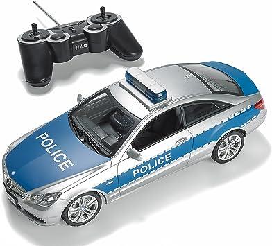PREXTEX - Coche de Policía Teledirigido con Luces y Sonidos Reales de Sirena de Policía por Control Remoto RC, Coche de Policía de Juguete para Niños: Amazon.es: Juguetes y juegos