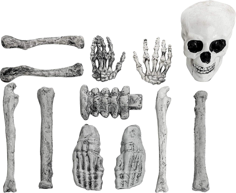 Hemoton 2 s/ätze Halloween kunststoffgabeln l/öffel Skelett besteck dekoratives Geschirr f/ür Party mischfarben