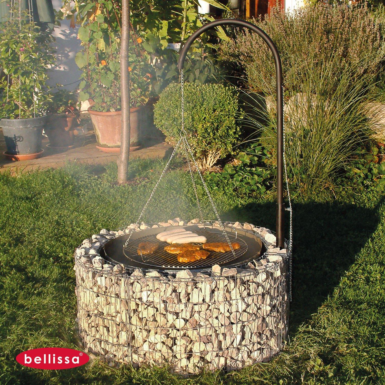 Feuerplatz Im Garten bellissa gabionen feuer und grillstelle inkl grillrost galgengrill