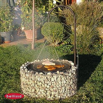 Bellissa Gabionen Feuer- und Grillstelle inkl.Grillrost ...