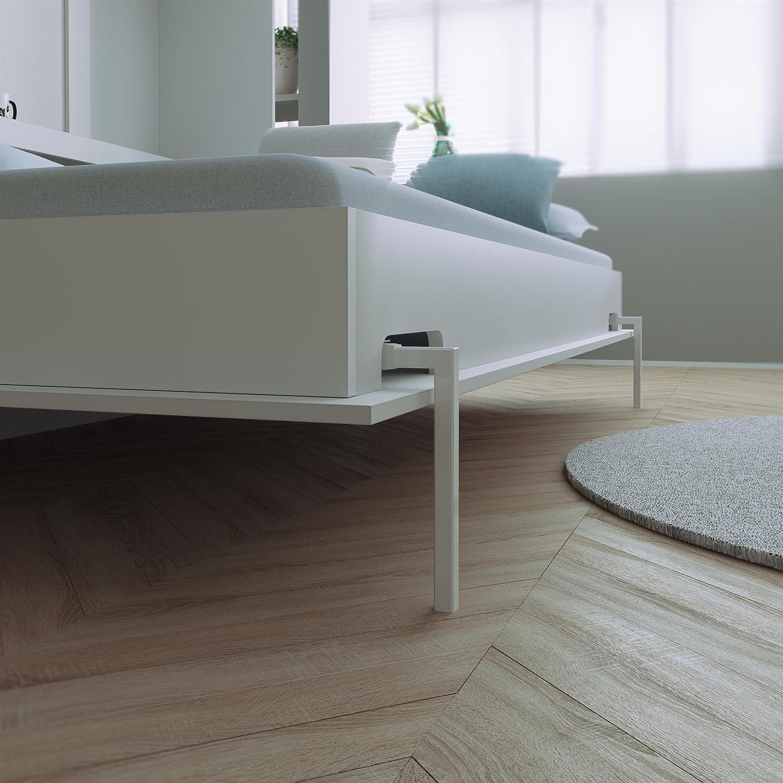 SMARTBett Cama plegable de 140 x 200 cm horizontal cama plegable & cama de pared sin colchón: Amazon.es: Hogar