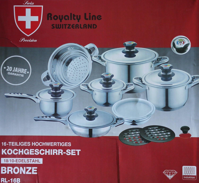 Royalty line Switzerland pots 16 pieces: Amazon.co.uk: Kitchen & Home