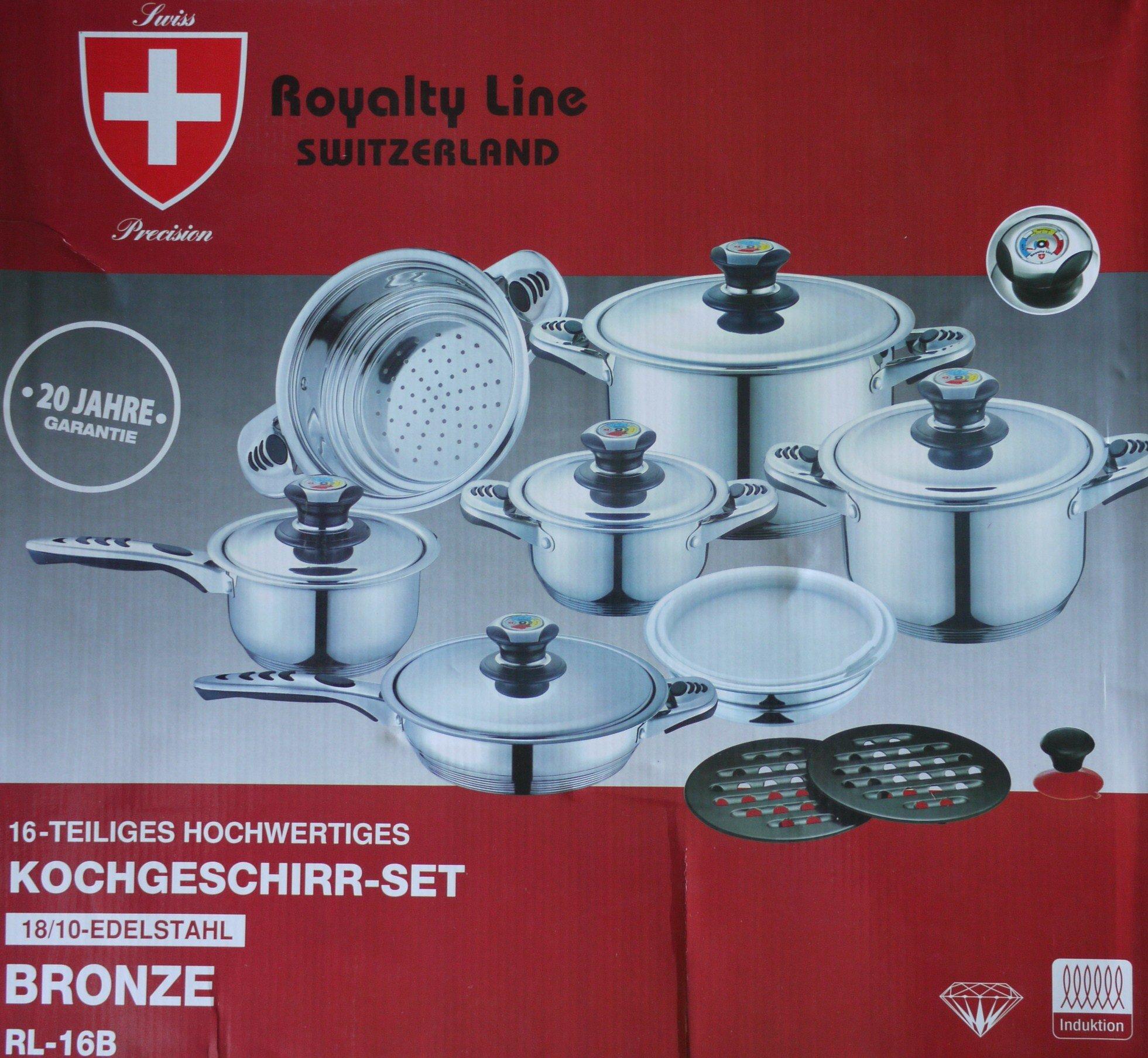 Royalty line Switzerland pots 16 pieces
