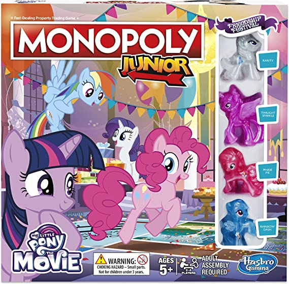 Hasbro Gaming- Monopoly Junior My Little Pony Friendship is Magic (B84173480): Amazon.es: Juguetes y juegos