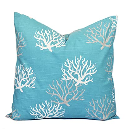 Amazon One Turquoise Coral Pillow Covers 40x40 Cushion Beauteous Cheap Turquoise Decorative Pillows