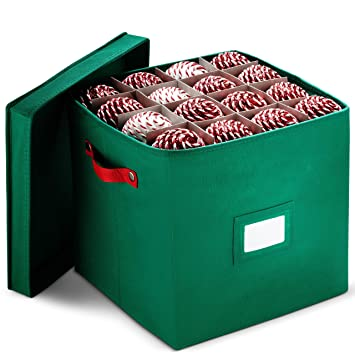 Christmas Ornament Storage Box With Lid - Protect and Keeps Safe Up To 64 Holiday  Ornaments - Amazon.com: Christmas Ornament Storage Box With Lid - Protect And