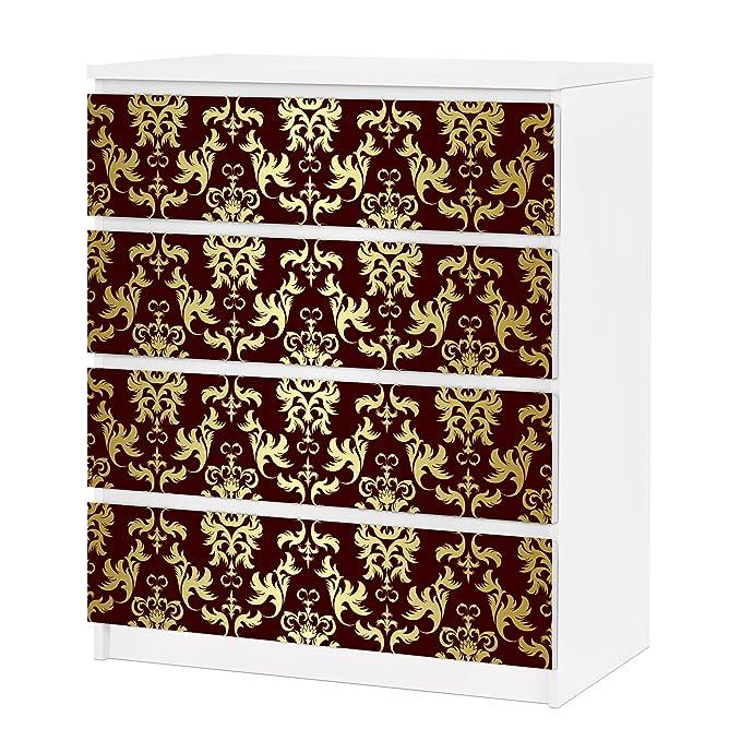 Vinilo Adhesivo para Muebles IKEA - Malm Dresser 4xDrawers - The ...