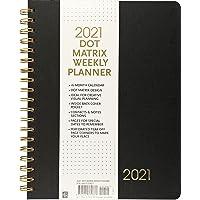 2021 Dot Matrix Weekly Planner (16-month calendar)