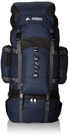 Everest Deluxe Hiking Pack, Navy, One Size
