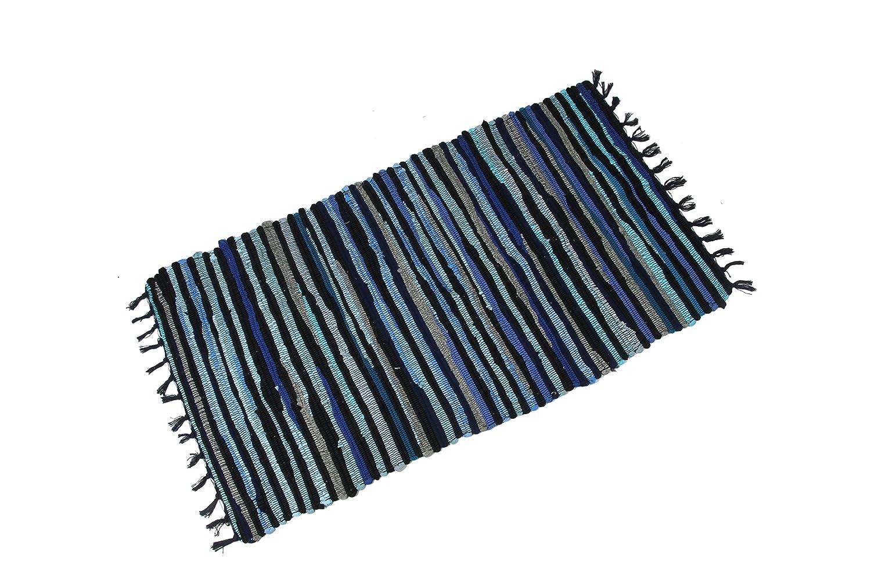 Tappeti In Tessuto Riciclato : Tappeto famibay tappeto lavabile a mano in cotone riciclato chindi