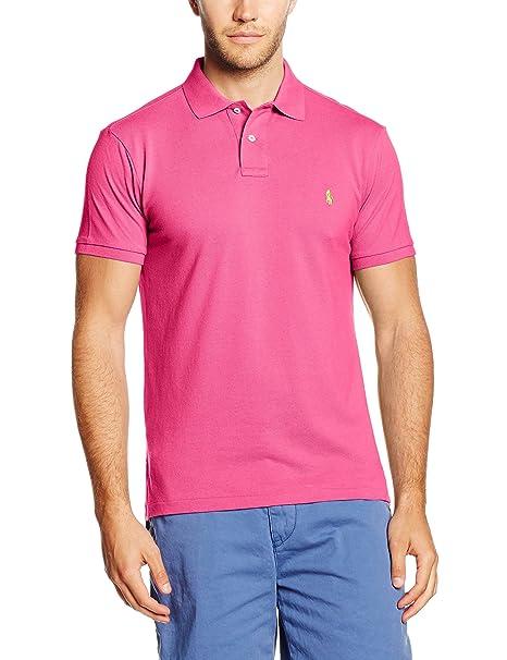 Polo Ralph Lauren SS KC CMFIT PPC, Uomo, Rosa (Ultra Pink B6924), X ... 86d1c3de30c