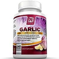BRI Nutrition Odorless Garlic - 240 Softgels - 1000mg Pure and Potent Garlic Allium Sativum Supplement (Maximum Strength) - 120 Day Supply