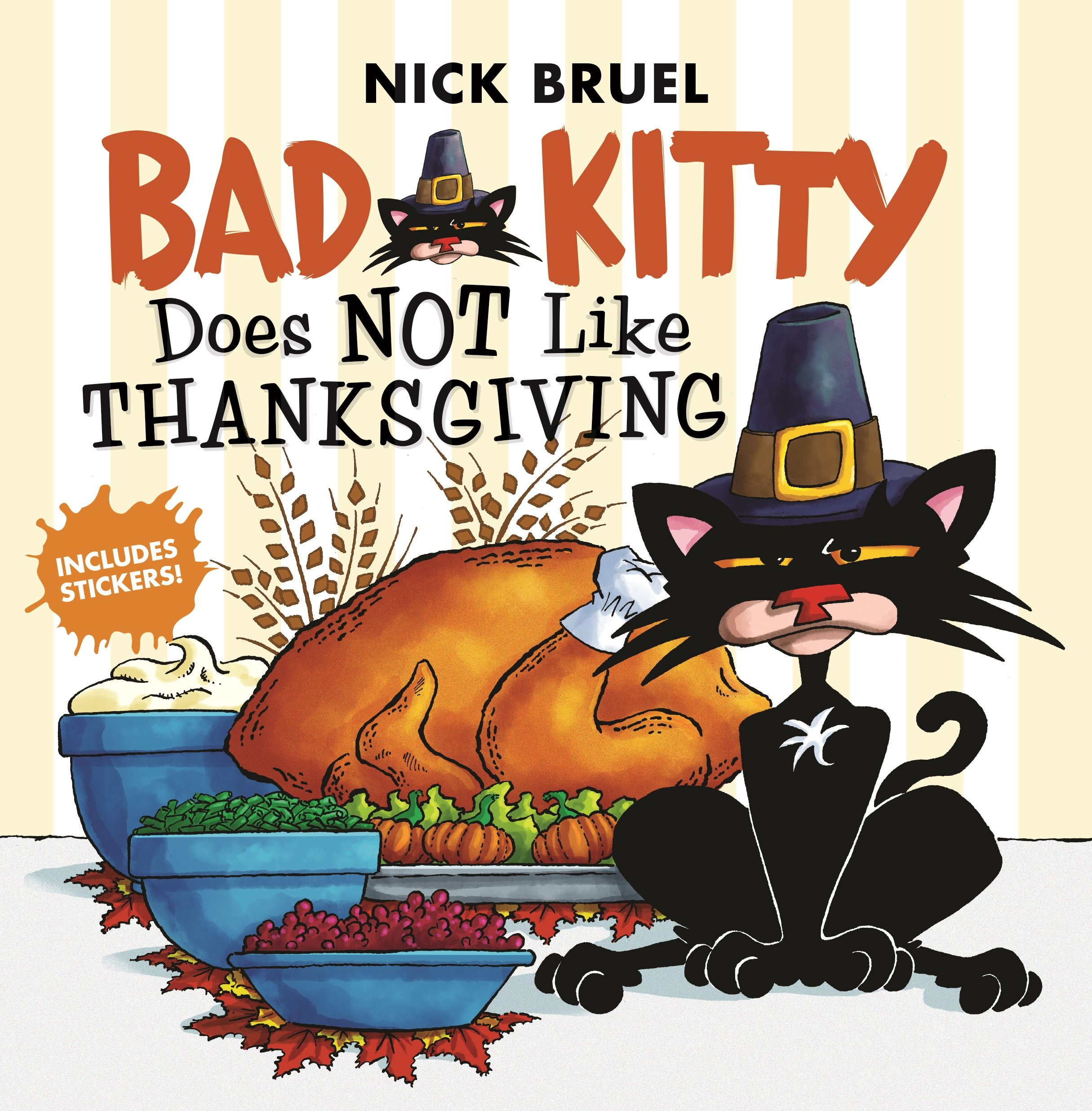 Bad Kitty Does Not Like Thanksgiving Nick Bruel 9781250198426 Amazon Books