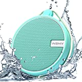INSMY IPX7 Waterproof Shower Bluetooth Speaker, Portable Wireless Outdoor Speaker with HD Sound, Support TF Card…