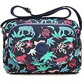 tuokener Borsa a Spalla Nylon Borsetta Donna Tracolla in Nylon Donna Impermeabile Crossbody Bag Waterproof