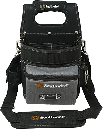 Southwire Tools Equipment BAGESP Electrician s Shoulder Pouch Tool Carrier