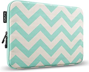Runetz - MacBook Pro 13 inch Sleeve Soft Laptop Sleeve 13 inch MacBook Air 13 inch Sleeve Notebook Computer Bag Protective Case Cover with Zipper - Chevron Teal