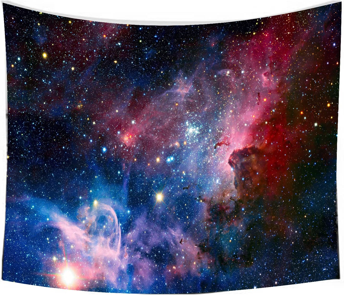 """Starry Galaxy Sky Tapestry, Home 3D Cosmic Tapestry, Living Room Bedroom Decoration Tapestry, Mattress, Tablecloth (59.1""""X82.7"""", Starry sky)"""