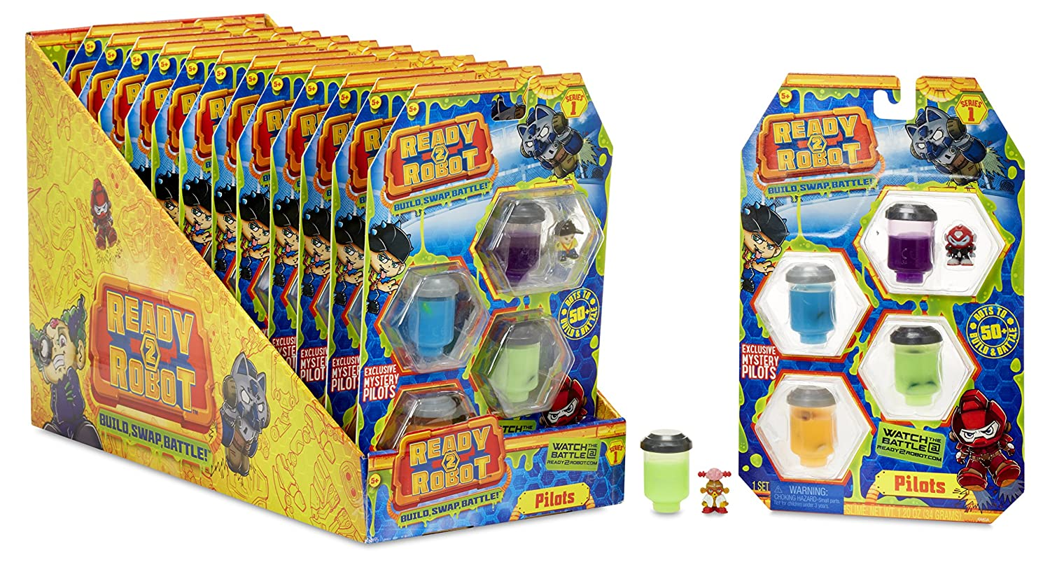MGA Entertainment Ready2Robot Pilots Asst Multicolore Ragazzo